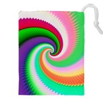 Colorful Spiral Dragon Scales   Drawstring Pouches (XXL) Front