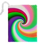 Colorful Spiral Dragon Scales   Drawstring Pouches (XXL) Back