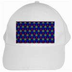 Honeycomb Fractal Art White Cap Front