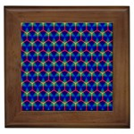 Honeycomb Fractal Art Framed Tiles Front