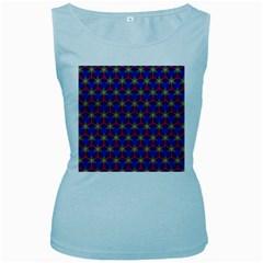 Honeycomb Fractal Art Women s Baby Blue Tank Top