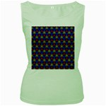 Honeycomb Fractal Art Women s Green Tank Top Front