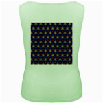 Honeycomb Fractal Art Women s Green Tank Top Back