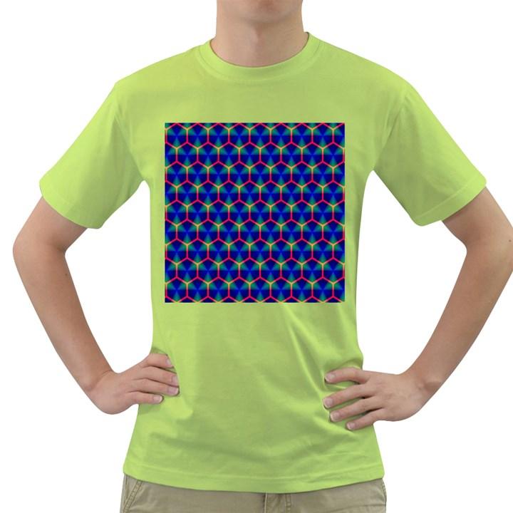 Honeycomb Fractal Art Green T-Shirt
