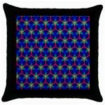Honeycomb Fractal Art Throw Pillow Case (Black) Front