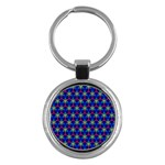Honeycomb Fractal Art Key Chains (Round)  Front