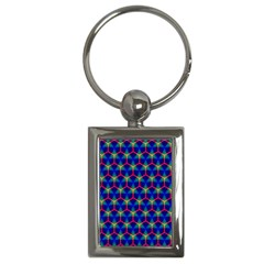 Honeycomb Fractal Art Key Chains (Rectangle)