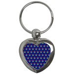 Honeycomb Fractal Art Key Chains (Heart)  Front