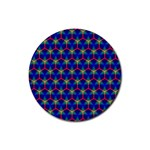 Honeycomb Fractal Art Rubber Coaster (Round)  Front