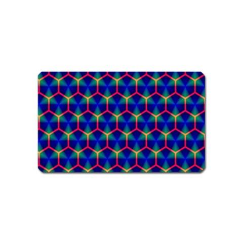 Honeycomb Fractal Art Magnet (Name Card)