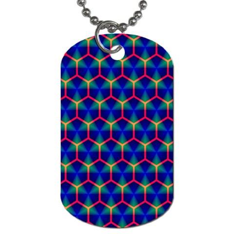 Honeycomb Fractal Art Dog Tag (One Side)