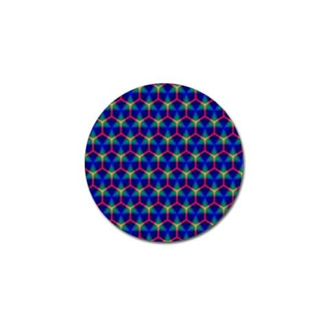 Honeycomb Fractal Art Golf Ball Marker