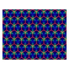 Honeycomb Fractal Art Rectangular Jigsaw Puzzl