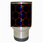 Honeycomb Fractal Art Travel Mug (Silver Gray) Center