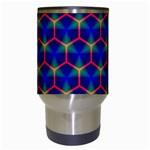 Honeycomb Fractal Art Travel Mugs (White) Center