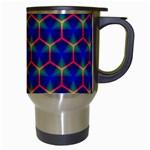 Honeycomb Fractal Art Travel Mugs (White) Right