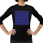 Honeycomb Fractal Art Women s Long Sleeve Dark T-Shirts Front