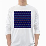 Honeycomb Fractal Art White Long Sleeve T-Shirts Front