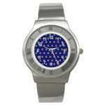 Honeycomb Fractal Art Stainless Steel Watch Front