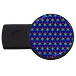 Honeycomb Fractal Art USB Flash Drive Round (4 GB)  Front