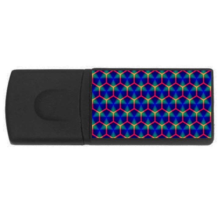 Honeycomb Fractal Art USB Flash Drive Rectangular (4 GB)