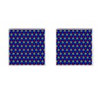 Honeycomb Fractal Art Cufflinks (Square) Front