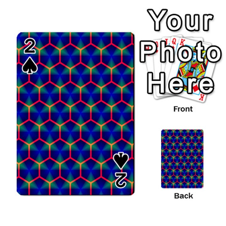 Honeycomb Fractal Art Playing Cards 54 Designs