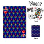 Honeycomb Fractal Art Playing Cards 54 Designs  Front - Heart4