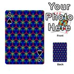 Honeycomb Fractal Art Playing Cards 54 Designs  Front - Spade4