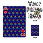 Honeycomb Fractal Art Playing Cards 54 Designs  Front - Heart10