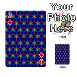 Honeycomb Fractal Art Playing Cards 54 Designs  Front - Diamond3
