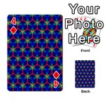 Honeycomb Fractal Art Playing Cards 54 Designs  Front - Diamond4