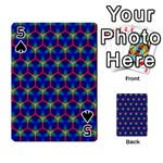 Honeycomb Fractal Art Playing Cards 54 Designs  Front - Spade5
