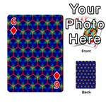 Honeycomb Fractal Art Playing Cards 54 Designs  Front - Diamond6