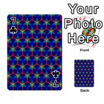 Honeycomb Fractal Art Playing Cards 54 Designs  Front - Club7