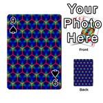 Honeycomb Fractal Art Playing Cards 54 Designs  Front - Spade9