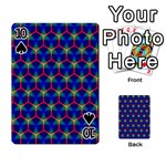 Honeycomb Fractal Art Playing Cards 54 Designs  Front - Spade10
