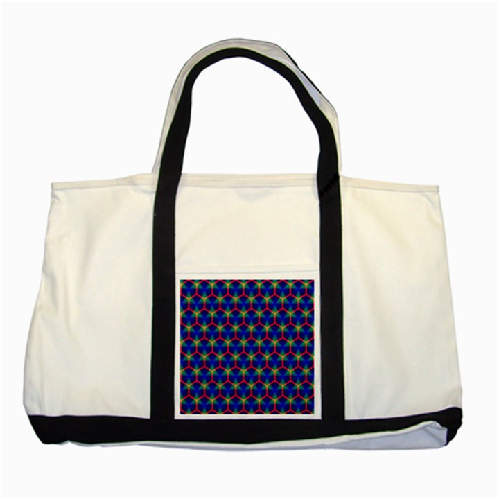 Honeycomb Fractal Art Two Tone Tote Bag