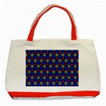 Honeycomb Fractal Art Classic Tote Bag (Red) Front
