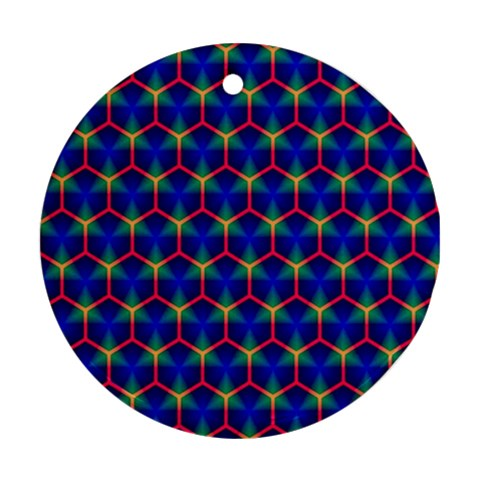 Honeycomb Fractal Art Round Ornament (Two Sides)