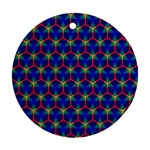 Honeycomb Fractal Art Round Ornament (Two Sides)  Front