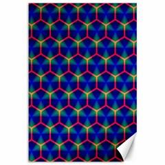 Honeycomb Fractal Art Canvas 12  x 18