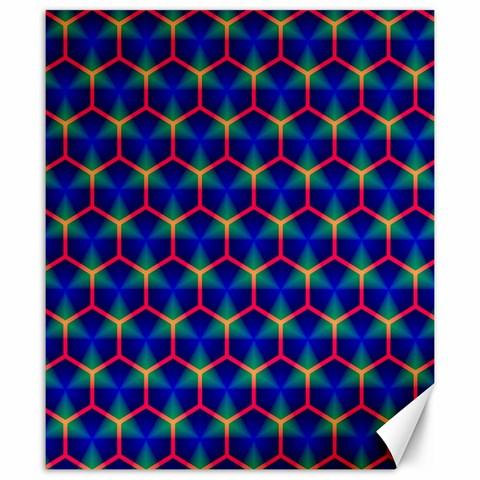 Honeycomb Fractal Art Canvas 20  x 24
