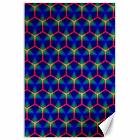 Honeycomb Fractal Art Canvas 20  x 30