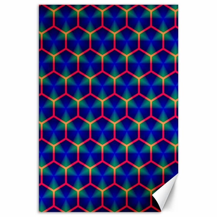 Honeycomb Fractal Art Canvas 24  x 36