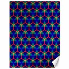 Honeycomb Fractal Art Canvas 36  x 48