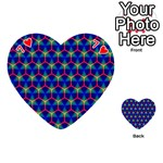 Honeycomb Fractal Art Playing Cards 54 (Heart)  Front - Heart7