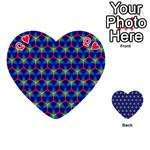 Honeycomb Fractal Art Playing Cards 54 (Heart)  Front - HeartQ