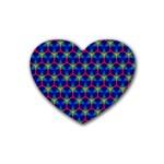 Honeycomb Fractal Art Rubber Coaster (Heart)  Front