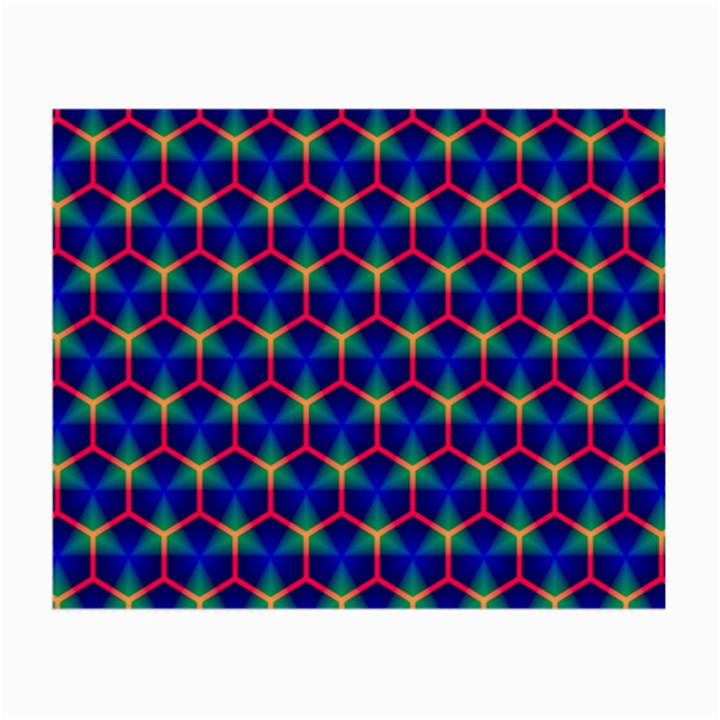 Honeycomb Fractal Art Small Glasses Cloth (2-Side)